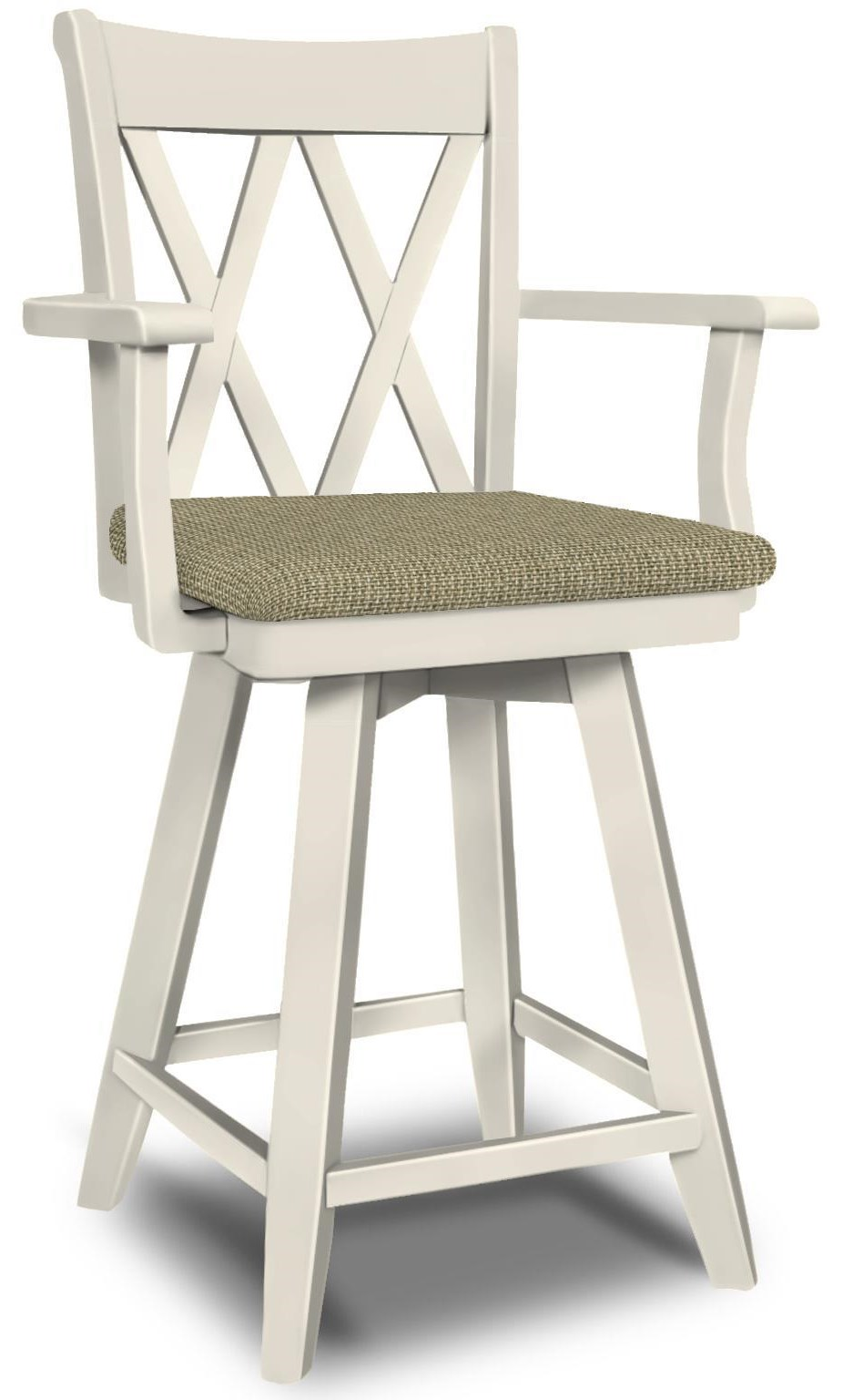 SELECT Dining Swivel Bar Stool with Arms by John Thomas at Baer's Furniture
