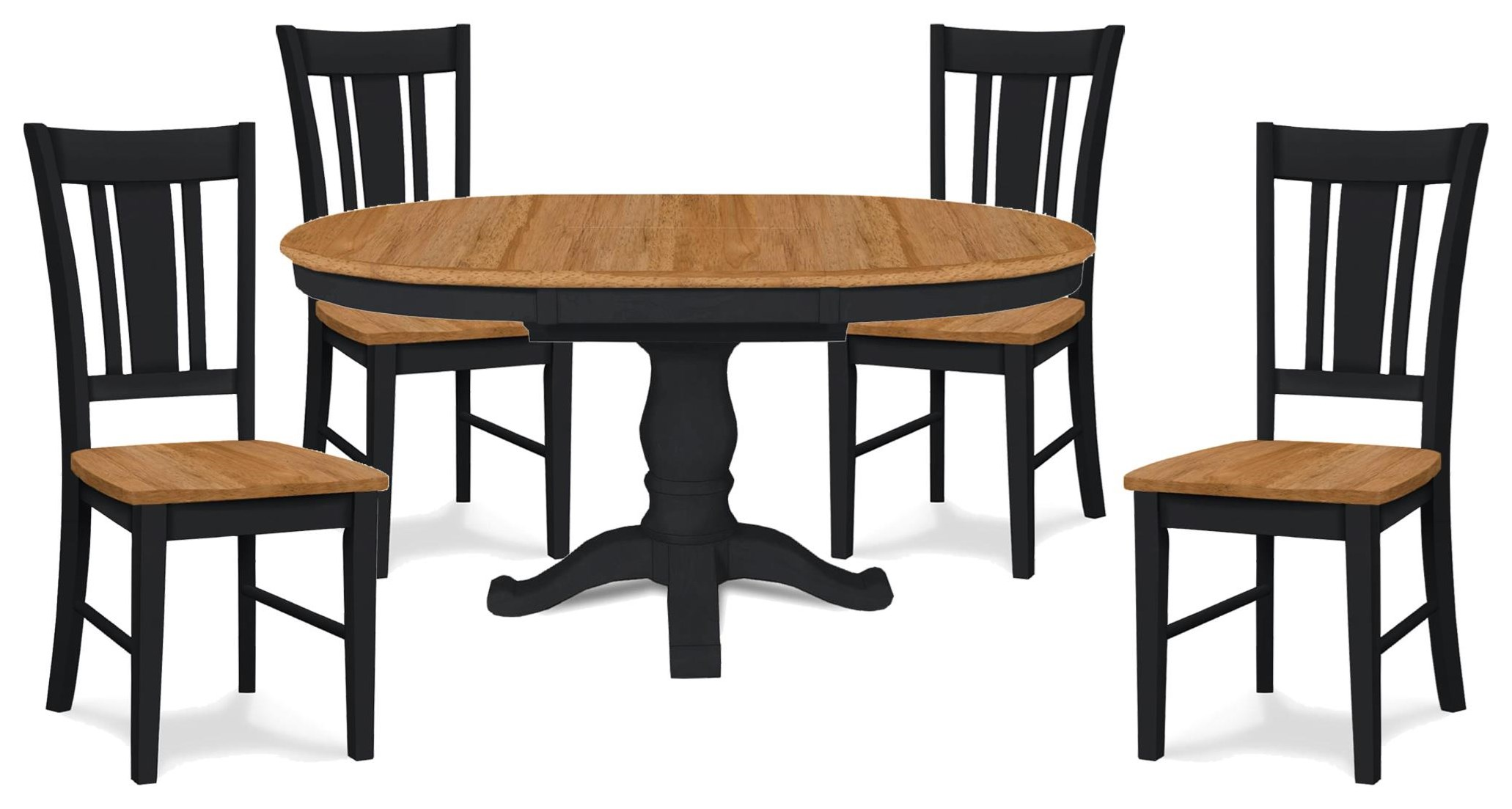 SELECT Dining Pedestal Table and 4 Chairs by John Thomas at Johnny Janosik
