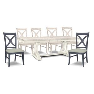 Table, 4 Chairs, 2 Upholsered Chair