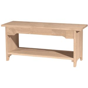 "John Thomas SELECT Dining 48"" Brookstone Bench"