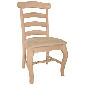John Thomas SELECT Dining Country French Chair with Seat Cushion