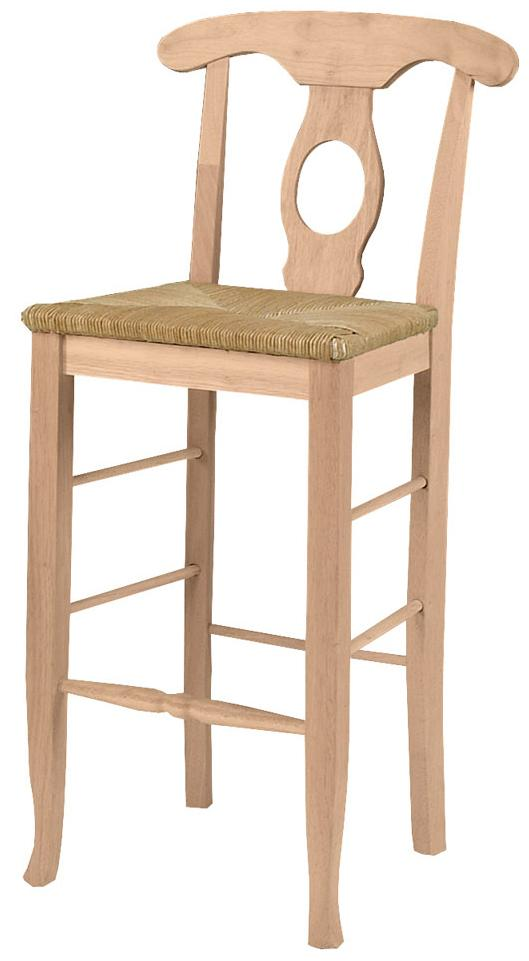 "SELECT Dining 30"" Empire Stool with Rush Seat by John Thomas at Furniture Barn"