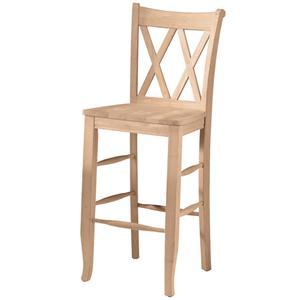 "John Thomas SELECT Dining 30"" Double X-Back Stool"