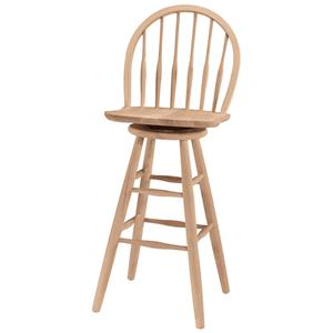 "John Thomas SELECT Dining 30"" Windsor Spindleback Stool"