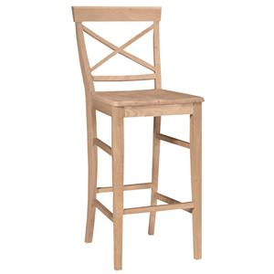 "John Thomas SELECT Dining 30"" X-Back Stool"