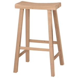 "John Thomas SELECT Dining 30"" Saddle Seat Stool"