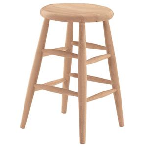 "John Thomas SELECT Dining 24"" Scoop Seat Stool"