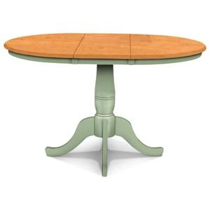 Adjustable Height Round Pedestal Table