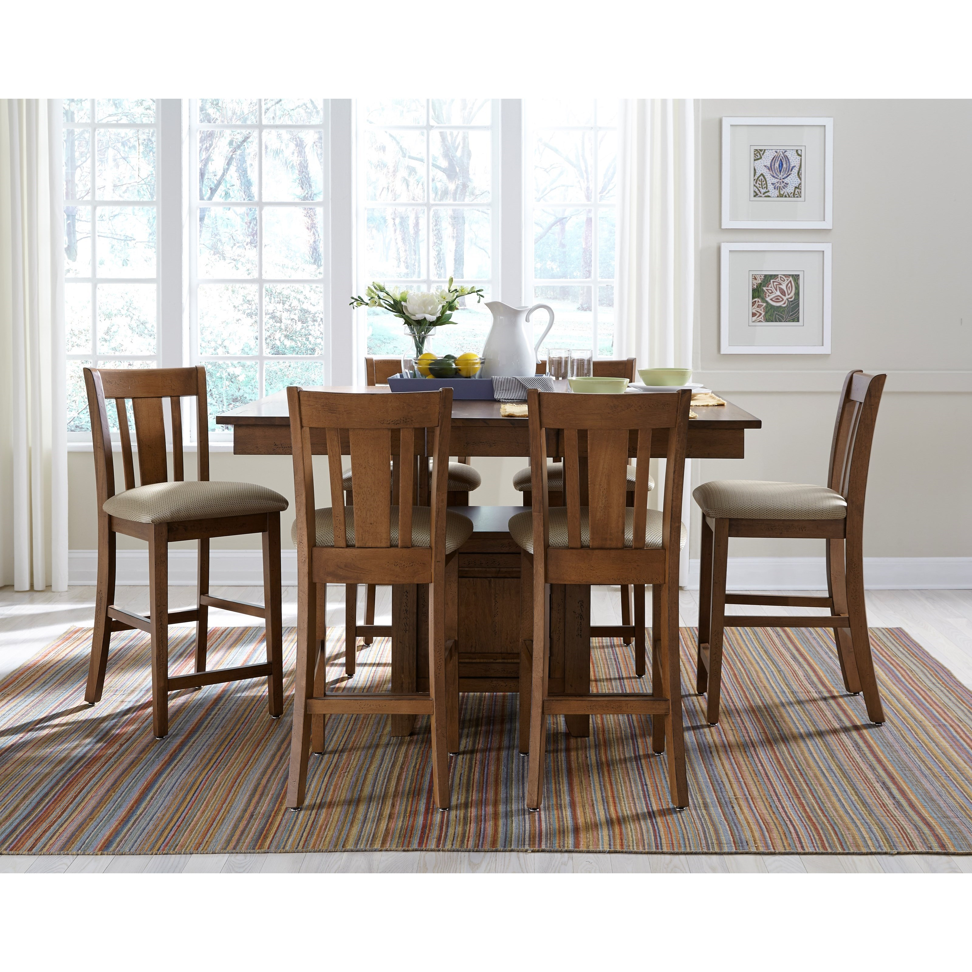 SELECT Dining Counter Height Pub Table and Chair Set by John Thomas at Baer's Furniture