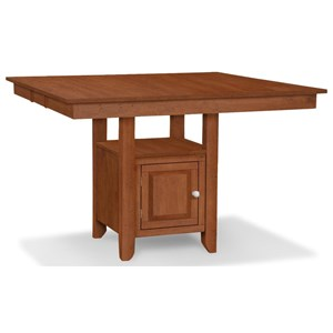 Gathering Height Table with Pedestal Storage