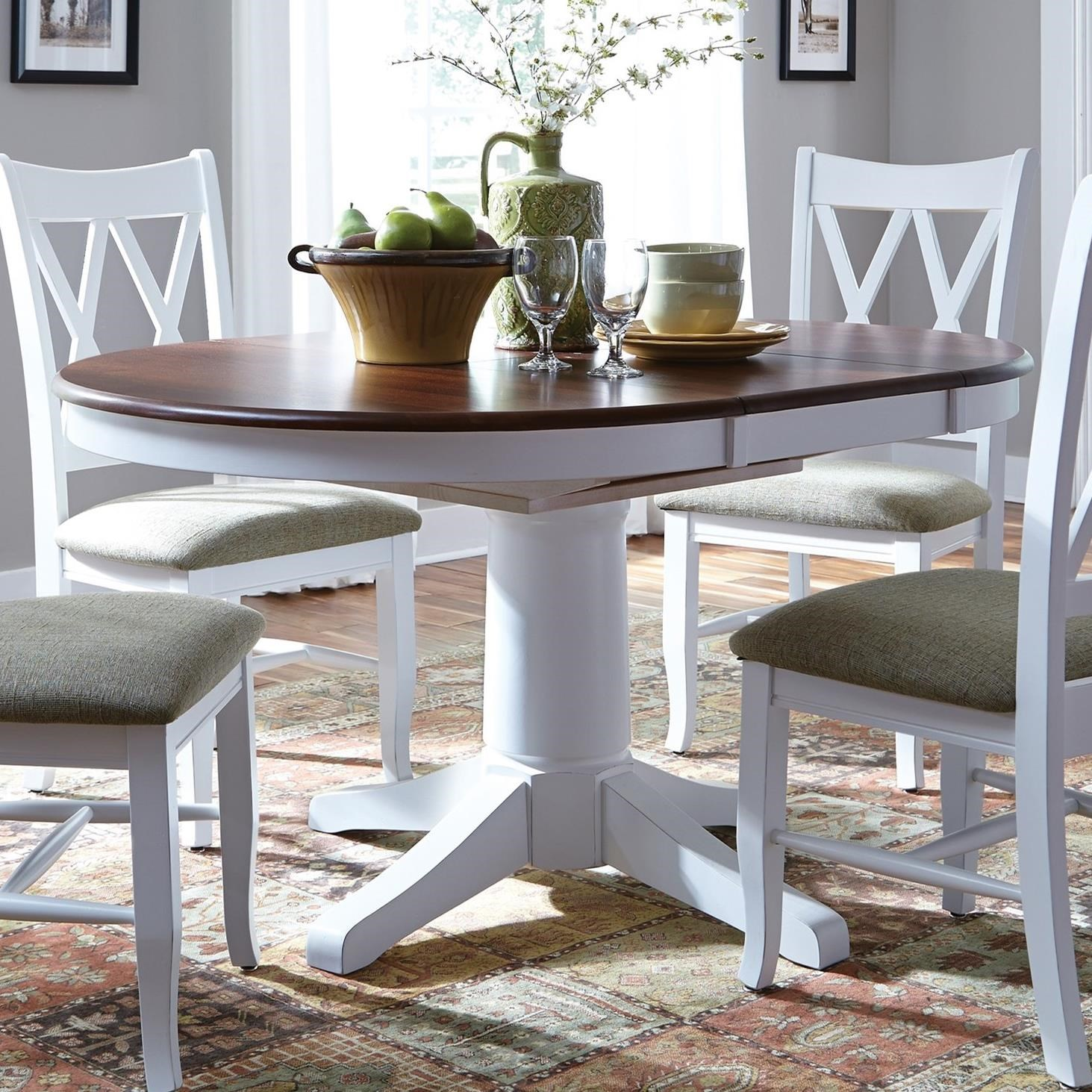 SELECT Dining Round Pedestal Dining Table by John Thomas at Johnny Janosik