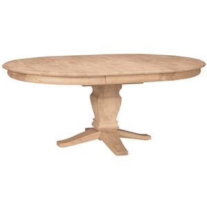 John Thomas SELECT Dining Butterfly Leaf Oval Pedestal Table