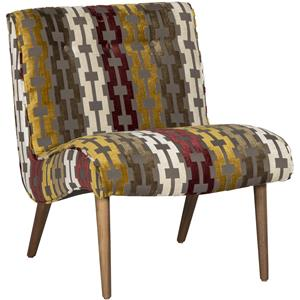 Forbes Armless Accent Chair with Splayed Wooden Legs