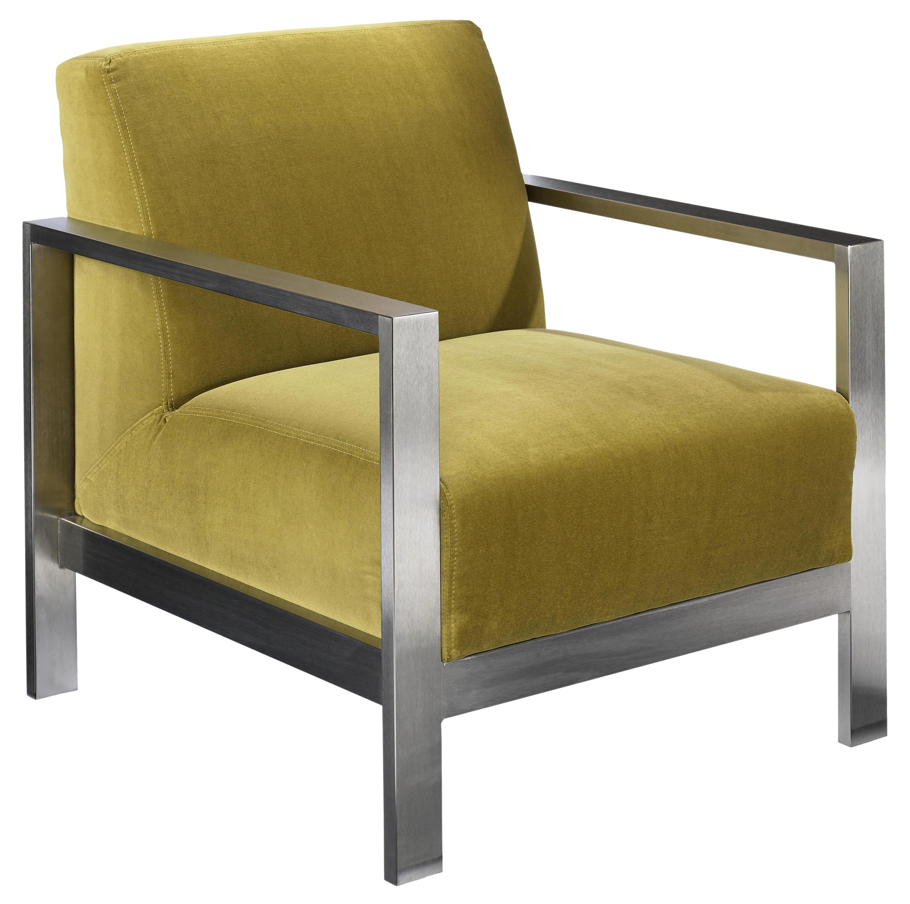 Accentuates Morrissey Metal Accent Chair by Jonathan Louis at Michael Alan Furniture & Design