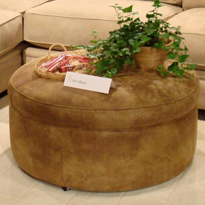 Alfred Round Ottoman by Jonathan Louis at Michael Alan Furniture & Design