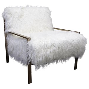 Casual Chair with Metal Frame and Button Tufting