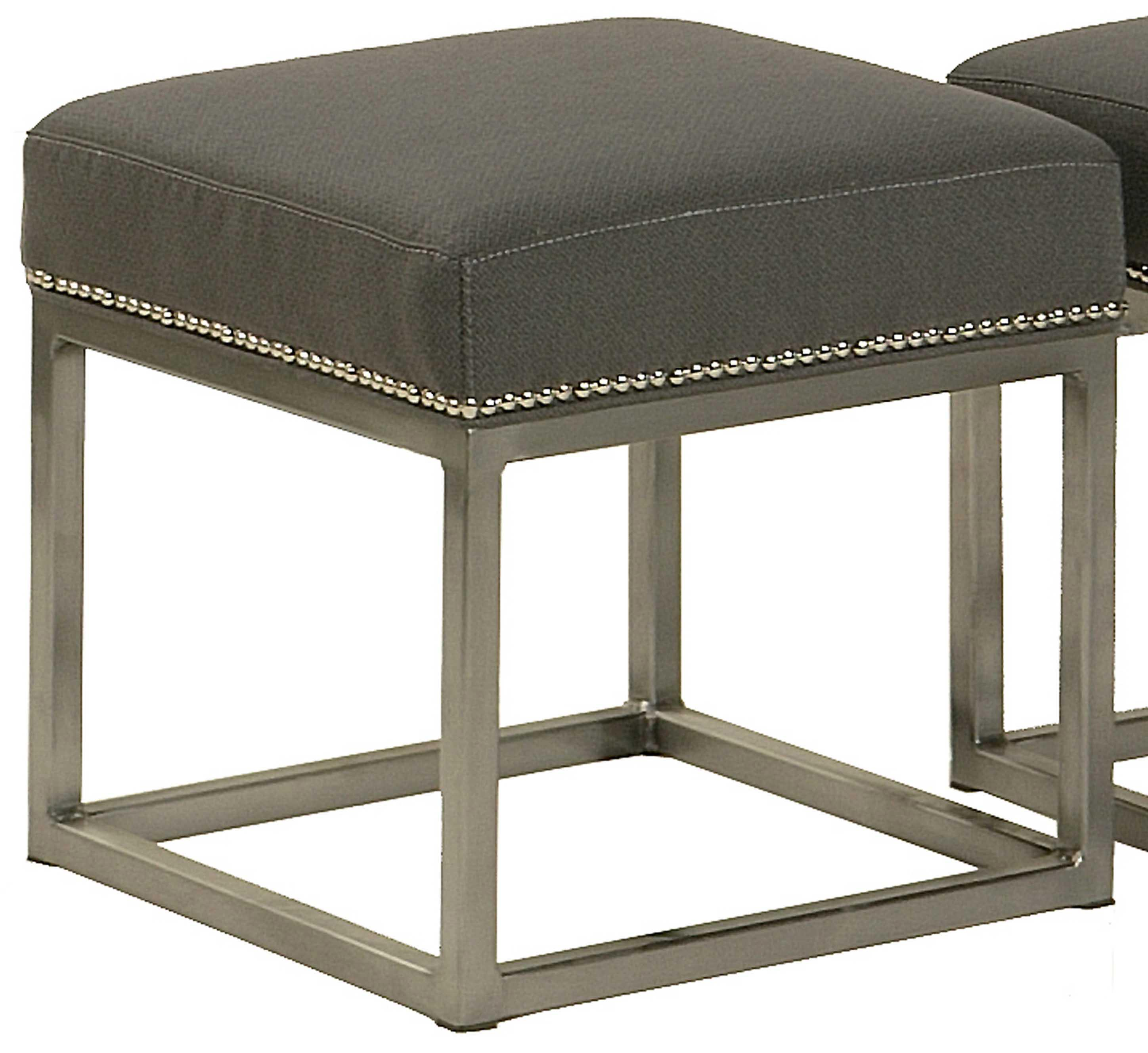 Andre Andre Metal Footstool at Williams & Kay