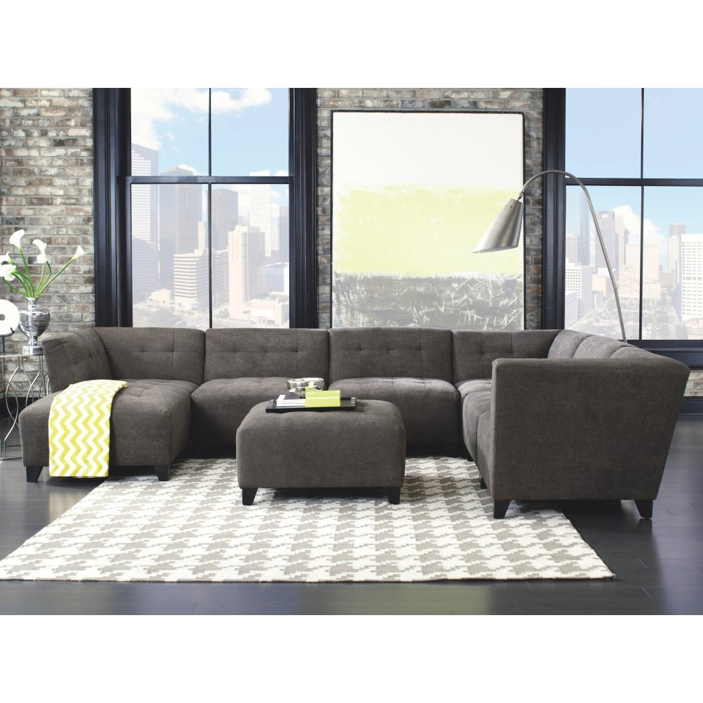 Belaire Contempary Sectional by Jonathan Louis at Stoney Creek Furniture