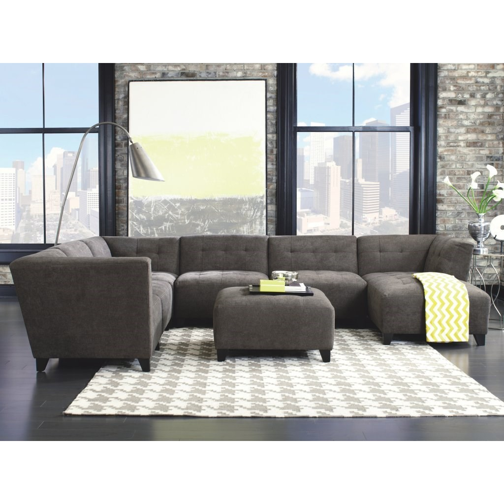 Belaire Contemporary Sectional  by Jonathan Louis at Michael Alan Furniture & Design