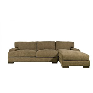 Modern Sectional with Right Chaise