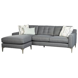 Contemporary 2-Piece Chaise Sofa with Reversible Chaise