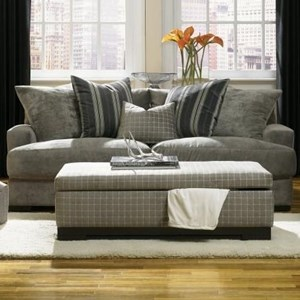 Sofa with Loose Back Pillows
