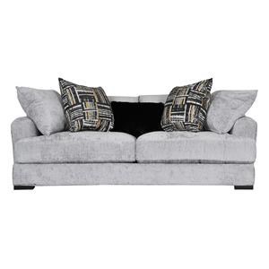 Casual Contemporary Sofa with Loose Back Pillows