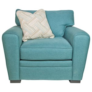 Upholstered Chair with Dome Arms
