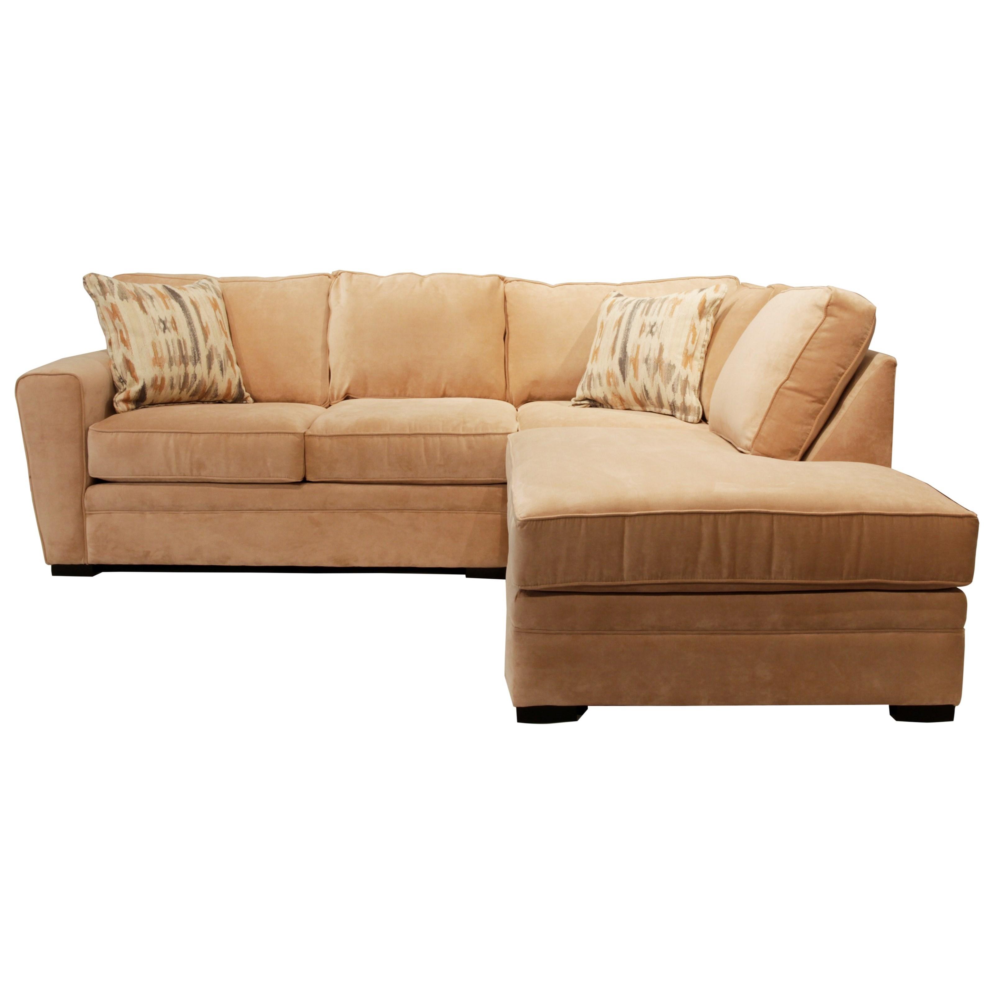 Choices - Artemis 2-Pc Chaise Sectional w/ Pluma Plush Cushion by Jonathan Louis at Fashion Furniture
