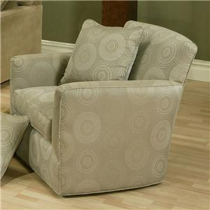 Contemporary Upholstered Chair with Track Arms