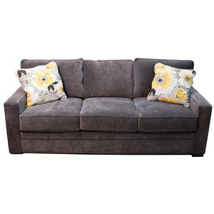 Contemporary Sofa with Pluma Plush Cushions