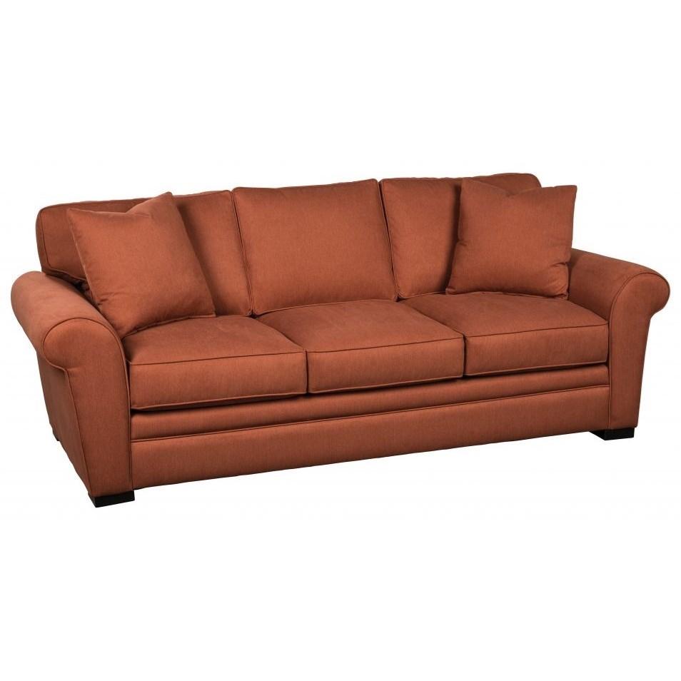 Choices - Orion Sofa with Pluma Plush Cushions by Jonathan Louis at Fashion Furniture