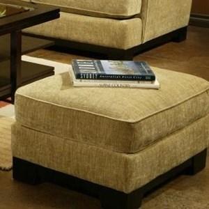 Ottoman with Pluma Plush Cushion