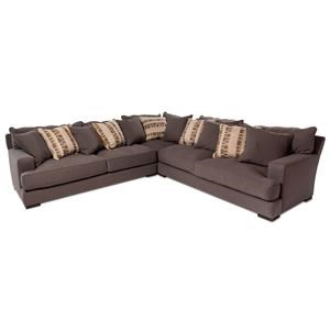 3PC Sectional Sofa w/ Wide Track Arms