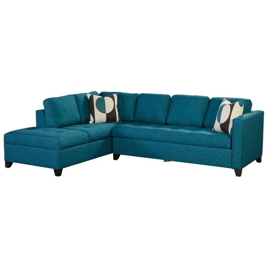 Dexter 4-Seat Sectional Sofa w/ RAF Sleeper by Jonathan Louis at Stoney Creek Furniture