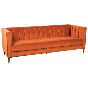 Mid-Century Modern Estate Sofa with Channel Tufted Back