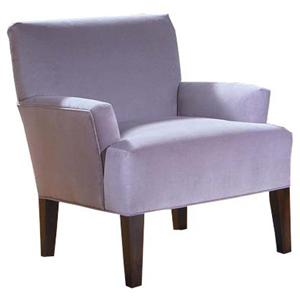 Ellen Accent Chair w/ Exposed Wood Legs