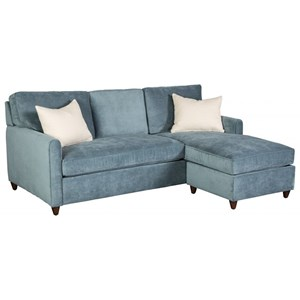 Casual Sofa with Chaise and Storage Ottoman