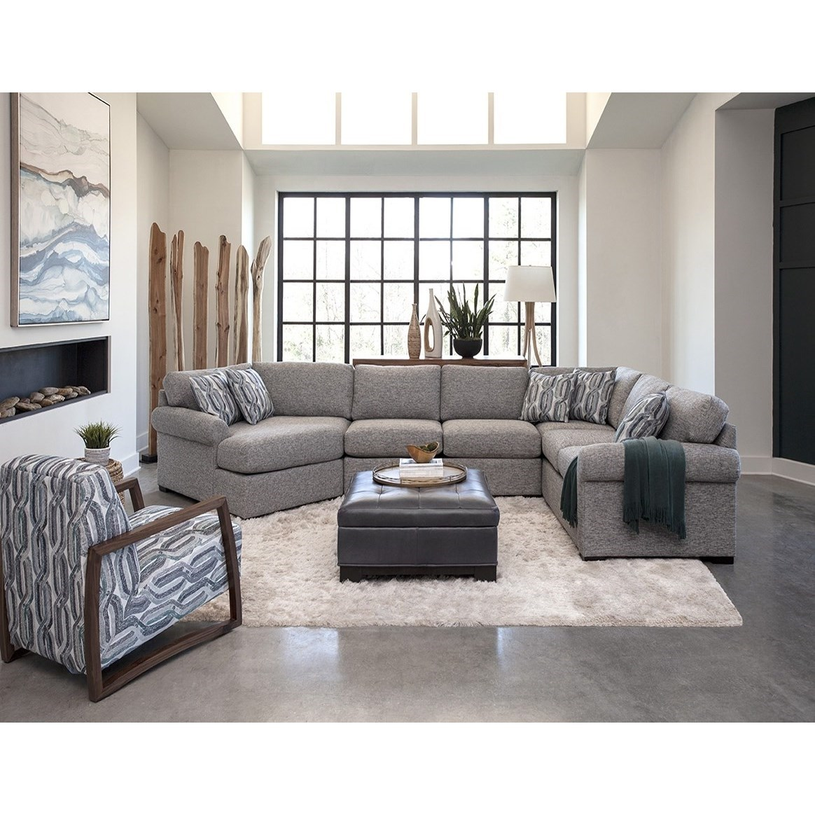 Fletcher 3-Piece Sectional with Left-Facing Cuddler at Williams & Kay
