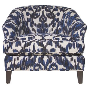 Traditional Accent Chair with Flared Arms