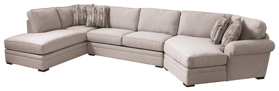 Hermes 3 Piece Sectional by Jonathan Louis at Darvin Furniture
