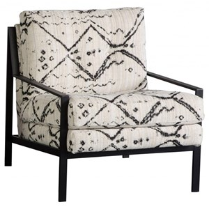 Contemporary Accent Chair with Metal Frame