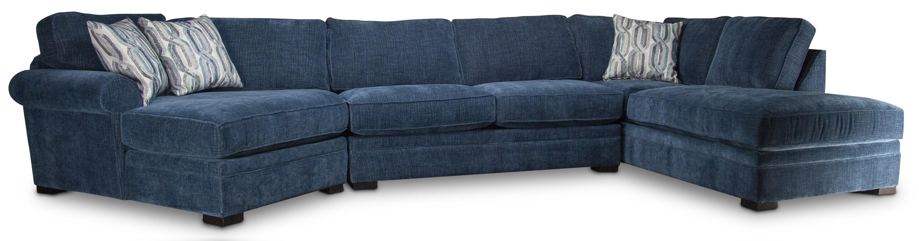 Linda Linda Sectional Sofa with Accent Pillows by Jonathan Louis at Morris Home