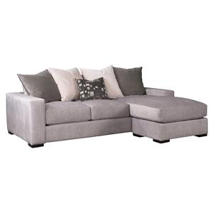 Contemporary Sofa w/ Reversible Chaise