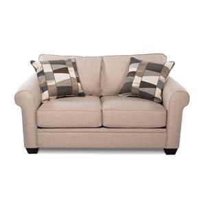 Casual Loveseat w/ Rolled Arms