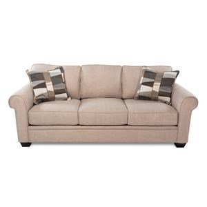 Casual Sofa w/ Rolled Arms