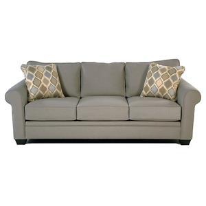Roll Arm Sofa w/ Sunbrella Fabric