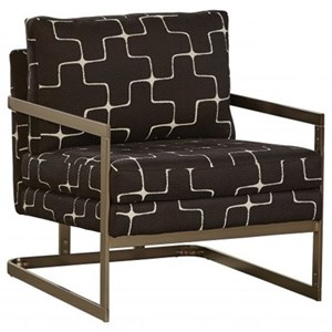 Contemporary Accent Chair with Exposed Metal Frame