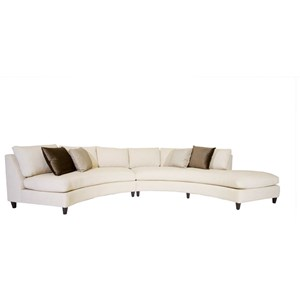 Contemporary Convex Sectional Sofa Chaise