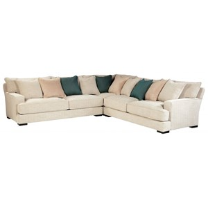 Contemporary 4-Seat Sectional Sofa with Deep Seats